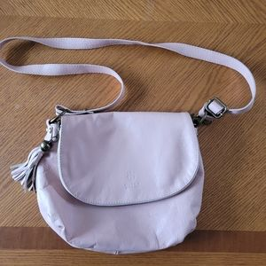 Borse in Pelle Italian Leather Crossbody Bag-Pink